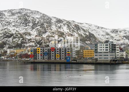 Hammerfest, Finnmark County, northern Norway - Stock Image