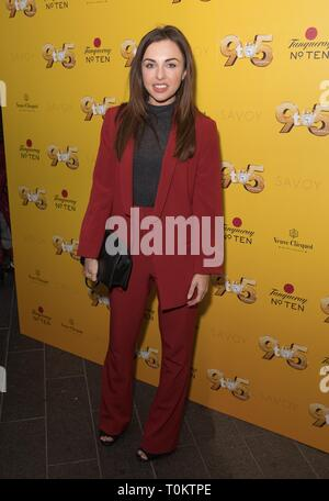 Celebs attend gala evening for Dolly Parton's 9 to 5 The Musical  Featuring: Louisa Lytton Where: London, United Kingdom When: 17 Feb 2019 Credit: Phil Lewis/WENN.com - Stock Image