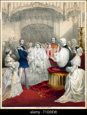 Wedding of King Frederick William and Queen Victoria of Prussia, 1858 - Stock Image