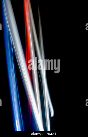 Light blurred pattern created with movement. - Stock Image