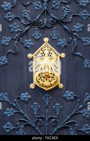 Door of Town Hall (Rathaus) Frankfurt am Main, Hesse, Germany - Stock Image