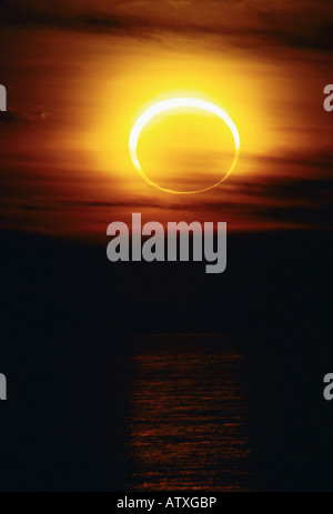 annular eclipse of the sun - Stock Image