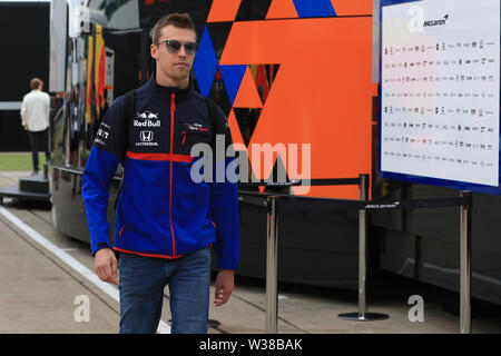 Silverstone Circuit. Northampton, UK. 13th July, 2019. FIA Formula 1 Grand Prix of Britain, Qualification Day; Scuderia Toro Rosso, Daniil Kvyat Credit: Action Plus Sports/Alamy Live News - Stock Image