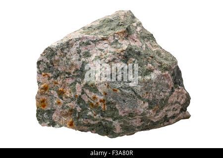 Skarn (tremolite and feldspar are main minerals) - Stock Image