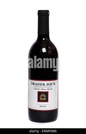 Trader Joe's Charles Shaw Blend 'Two Buck Chuck' Merlot Wine - Stock Image