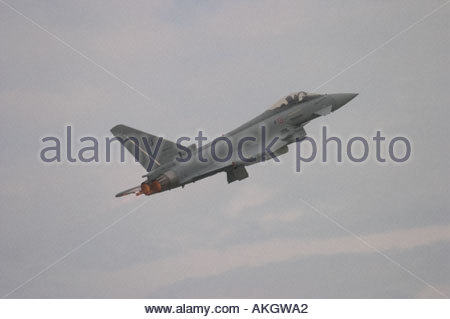 Typhoon Eurofighter EFA RSV Italian Air Force Rivolto Italia Air show 2005 - Stock Image