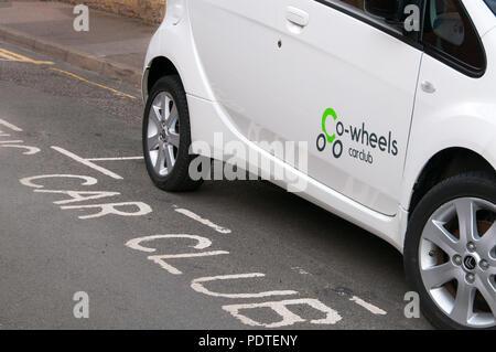 Co Wheels car club electric car - Stock Image
