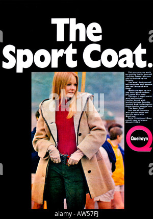1960s Nova Magazine October 1968 Advertisement for Quelrayn Fashion Sport Coat  FOR EDITORIAL USE ONLY - Stock Image