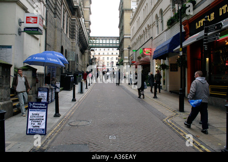 Villiers Street Embankment London - Stock Image