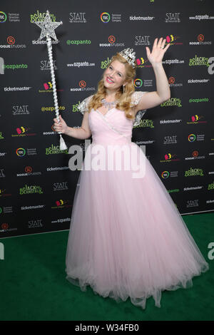 Sydney, Australia. 12th July 2019. Jack and the Beanstalk Giant 3D musical spectacular red carpet at the State Theatre. Pictured: Lucy Durack. Credit: Richard Milnes/Alamy Live News - Stock Image