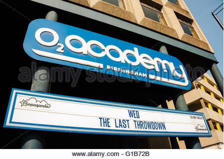 Birmingham, England, UK. 12th May 2016. UK Weather, Sunshine in Birmingham The o2 Academy Birmingham is a music - Stock Image