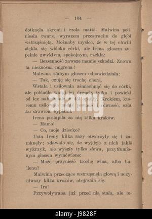 PL Eliza Orzeszkowa Argonauci tom I 110 - Stock Image