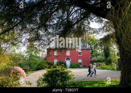Glebe House and Gallery. Frontage and gardens. County Donegal, Ireland - Stock Image