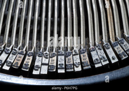 Old Typewriter Letters UK classic Office Equipment - Stock Image