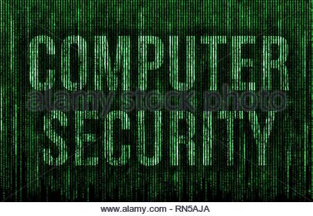 Computer Security - matrix message - Stock Image