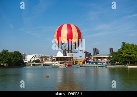 A view of the Disney Village at Disneyland Paris - Stock Image