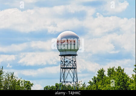 WLEX-TV Doppler Radar tower in Lexington Kentucky - Stock Image