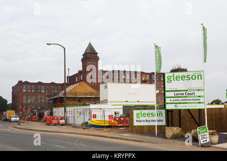 Lorne Court Housing development on Lorne Street, Farnworth, Bolton. This is a build of 51 new houses by MJ Gleeson - Stock Image