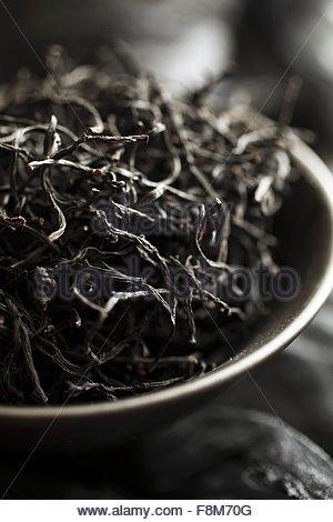 Dried brown seaweed - Stock Image