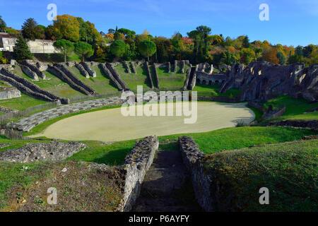 Europe,France, Gallo-Roman arena of Saintes in Charente-Maritime. - Stock Image