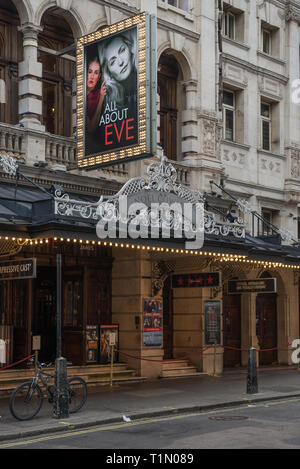 The Noël Coward Theatre, formerly known as the Albery Theatre, a West End theatre on St. Martin's Lane in the City of Westminster, London, England, UK - Stock Image