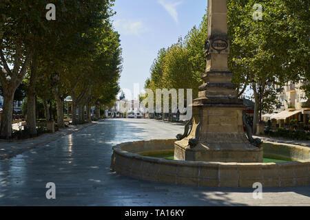 Plaza de La Constitución. Baeza, Jaén province, Andalusia, Spain. - Stock Image