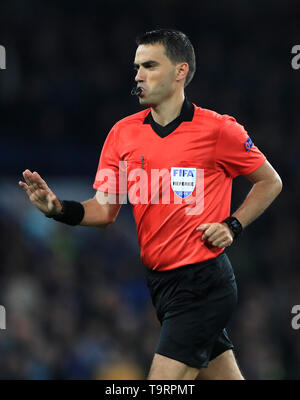 Match referee Ovidiu Alin Hategan - Stock Image