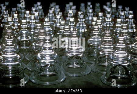 Norwegian glass production at glass blower Norway - Stock Image