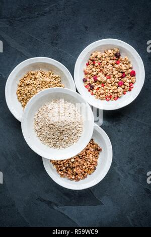 Assortment of cereals and muesli. - Stock Image