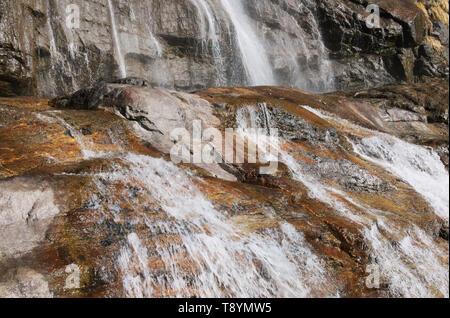 Acquafraggia waterfalls, Valchiavenna, Lombardy, Italy - Stock Image