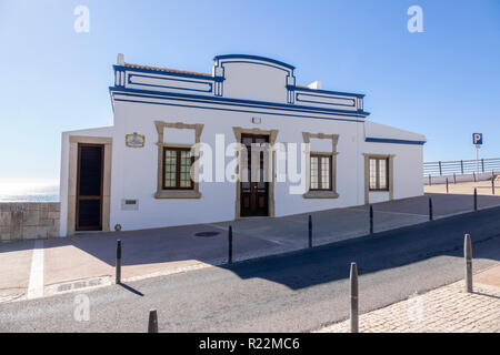 Historic House On The Ocean Front At R. Alm. Gago Coutinho, Albufeira,The Algarve Portugal, - Stock Image