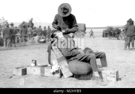 Pancho Villa Expedition, Army Headquarters Barber, 1916 - Stock Image
