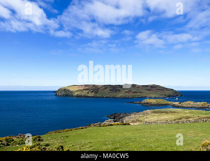 RS 8074  Calf of Man & The Sound, Isle of Man, UK - Stock Image