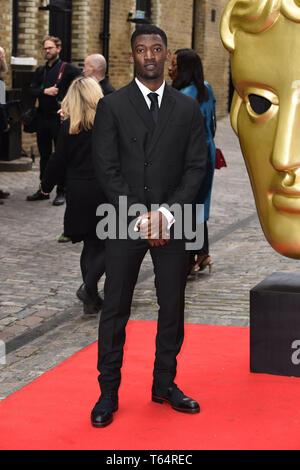 LONDON, UK. April 28, 2019: Malachi Kirby at the BAFTA Craft Awards 2019, The Brewery, London. Picture: Steve Vas/Featureflash - Stock Image
