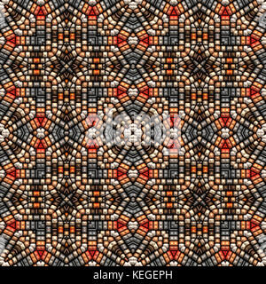 beads rendered into background - Stock Image