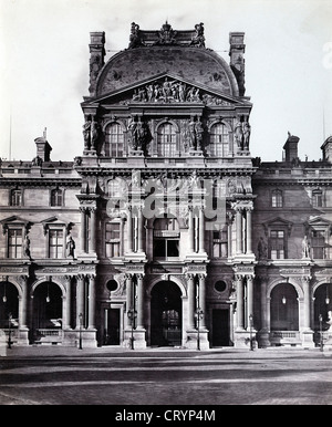 Pavillon Richelieu, The Louvre, ca 1870, by Francis Frith & Co - Stock Image
