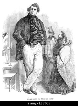 Robert Hales the Norfolk Giant 7 feet 6 inches 33 stone circa 1853 - Stock Image