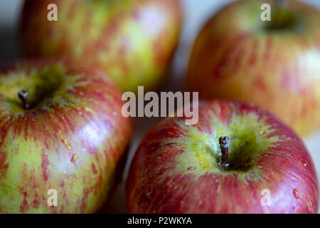 four apples - Stock Image