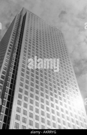 One Canada Square office tower Canary Wharf London - Stock Image