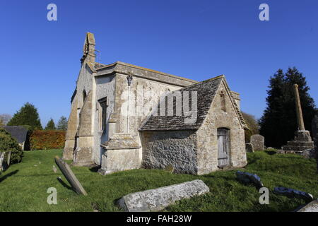 St John the Baptist Church, Inglesham, Wiltshire, England - Stock Image
