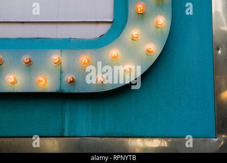 Lights on Sign, Las Vegas, Nevada - Stock Image
