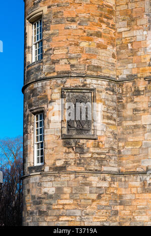 Edinburgh (Scotland) - Placed in the Royal Mile, the Palace of Holyroodhouse is the official residence of the Monarchy in Scotland. Detail of the old  - Stock Image