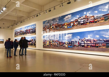 Work of Dionisio González on display at CAC. Centre for Contemporary Art. Soho district, Malaga, Spain. - Stock Image