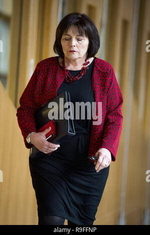 Politicians attend the Scottish First Minister's Questions at Holyrood.  Featuring: Jeane Freeman Where: Edinburgh, United Kingdom When: 22 Nov 2018 Credit: Euan Cherry/WENN - Stock Image