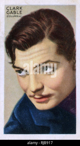 Clark Gable, American film actor. - Stock Image