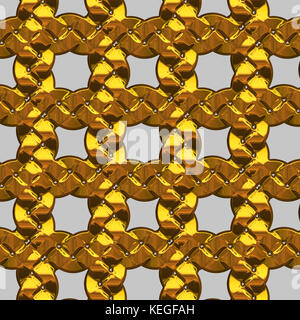 isolated gold chain - Stock Image