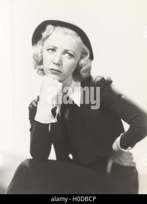 Worried woman - Stock Image