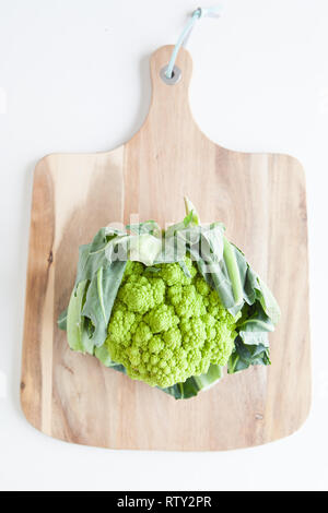 Fresh vegetables, green cauliflower - Stock Image