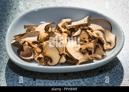 Cooking mushroom - Stock Image