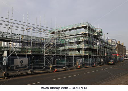 Construction site for Affordable housing Derby Street Dundee Scotland  25th February 2019 - Stock Image